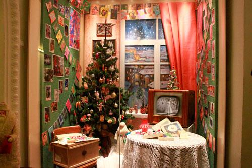 Как украсить квартиру к Новому году Советский стиль