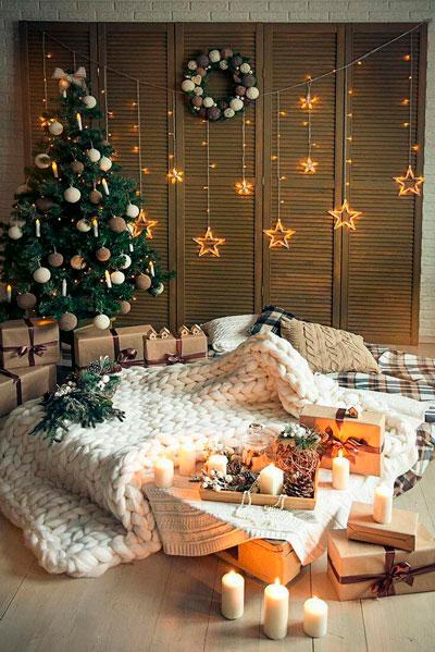 как красиво украсить квартиру к новому году 2