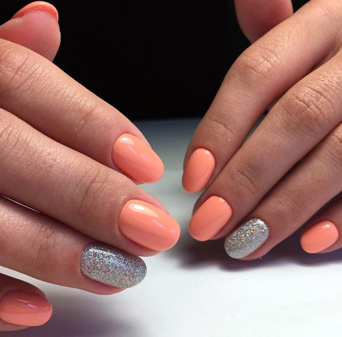 красивая форма на короткие ногти