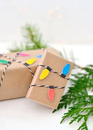 красиво упаковать подарки на Новый год 12