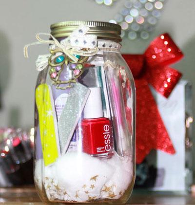 как красиво упаковать подарок на новый год в баночки 2