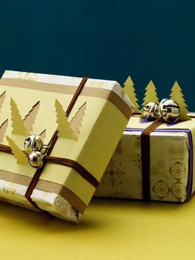 красиво упаковать подарки на Новый год 5
