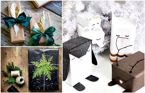 как красиво упаковать подарки на новый год для детей