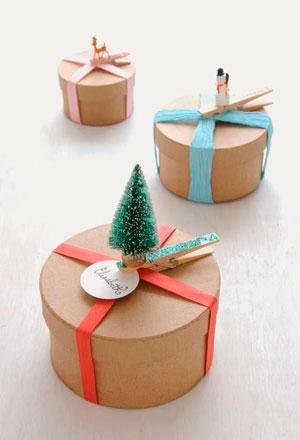упаковка на новый год с елочкой своими руками