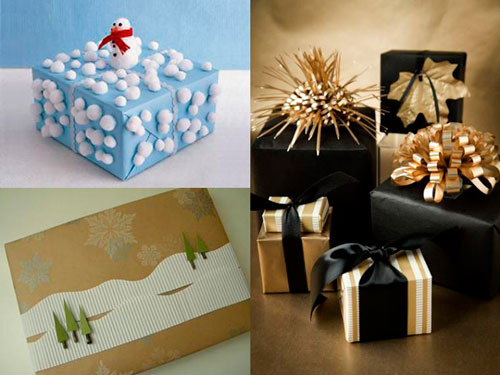 красивый новогодний подарок упаковка 2