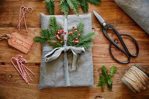 красивый новогодний подарок упаковка