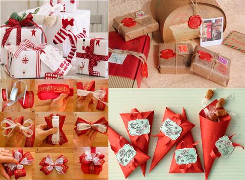 красиво упаковать подарки на Новый год 14