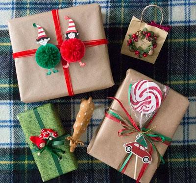 красивая упаковка подарка своими руками на новый год 5