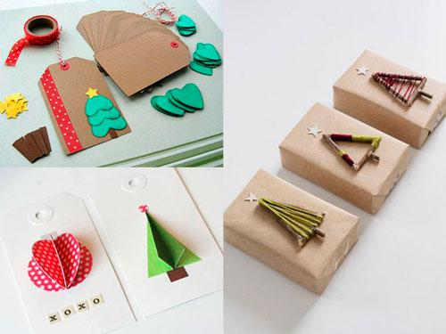красиво упаковать подарки на Новый год 10