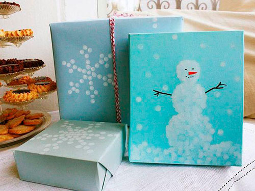 красиво упаковать подарки на Новый год 9