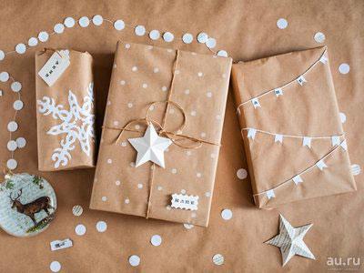 красиво упаковать подарки на Новый год 8