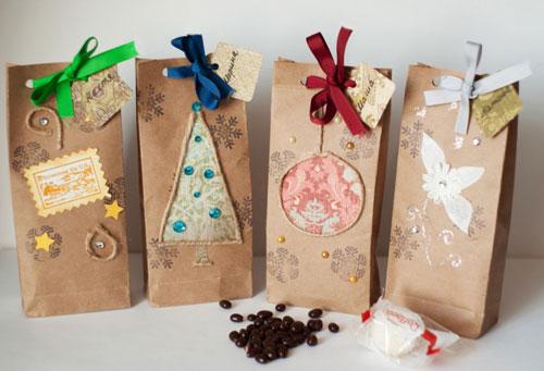 красиво упаковать подарки на Новый год 7
