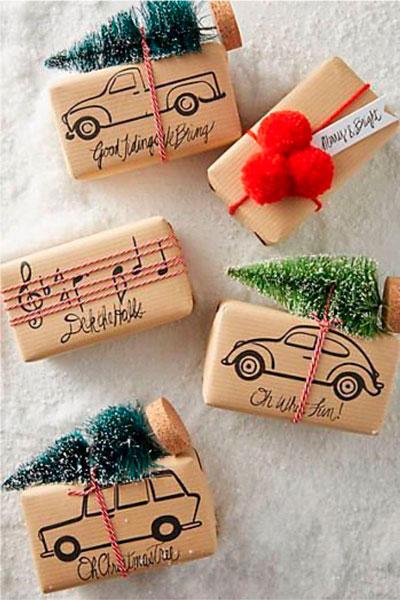 красивый новогодний подарок упаковка 3
