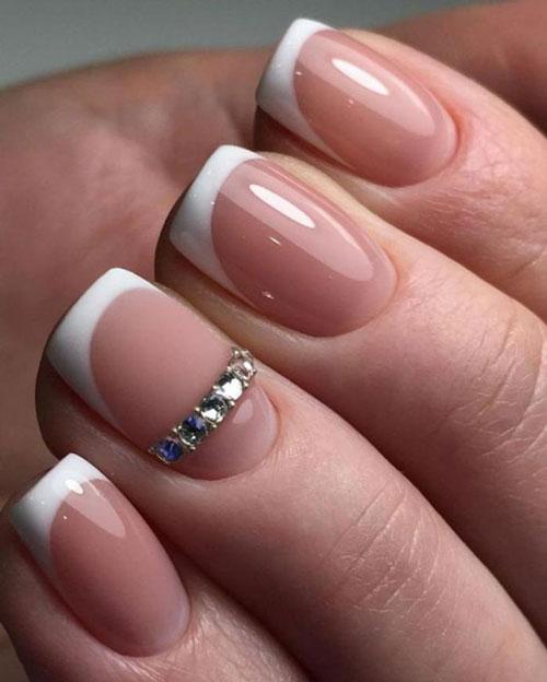 красивый маникюр френч на короткие ногти
