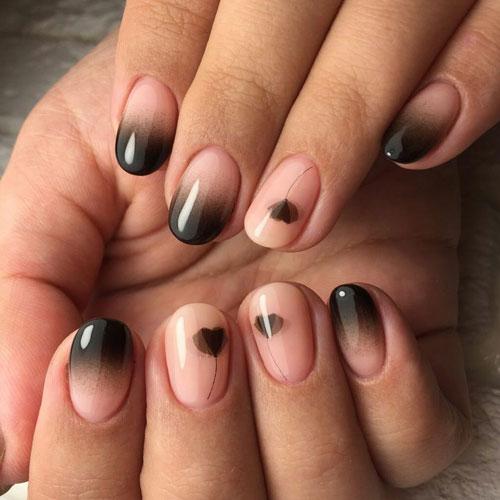 красивый маникюр омбре на короткие ногти 2