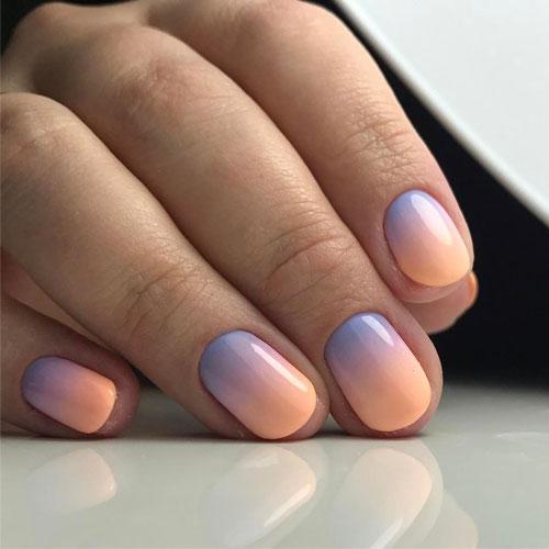 красивый маникюр омбре на короткие ногти 3
