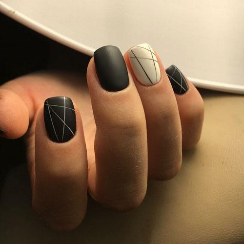 красивый матовый маникюр на короткие ногти