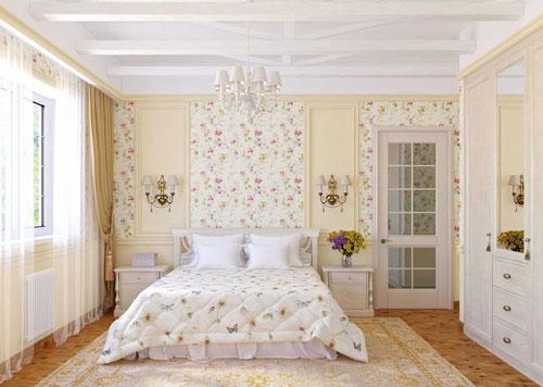 маленькая спальня в стиле прованс 3