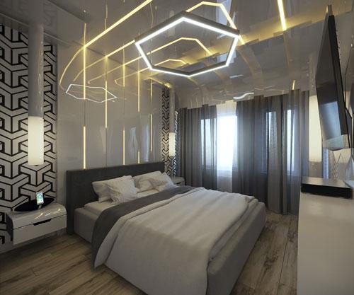 спальня дизайн интерьера в современном стиле 4