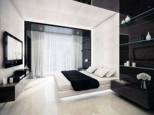 спальня дизайн интерьера в современном стиле