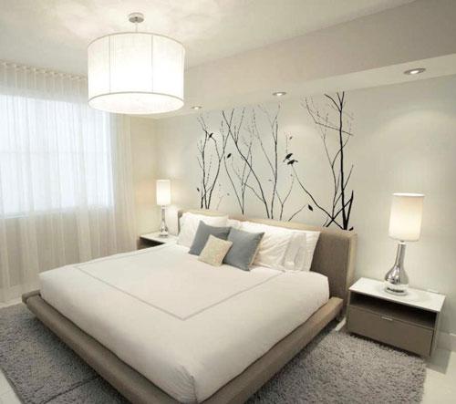Оформление спальни в современном стиле минимализм