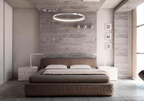 Оформление спальни в современном стиле минимализм 2