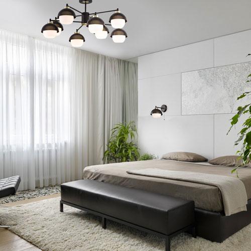 Оформление спальни в современном стиле минимализм 3