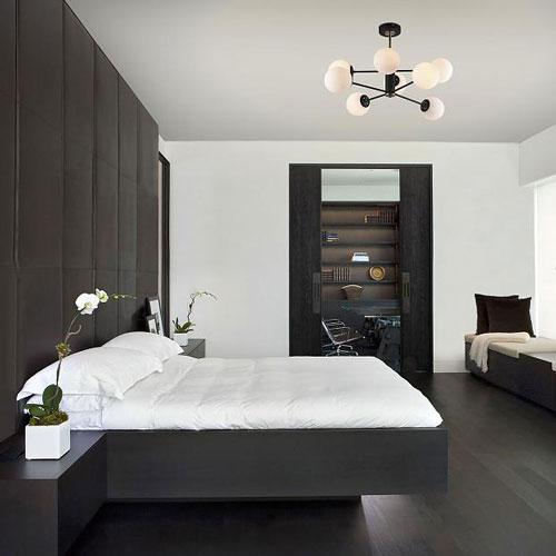 Оформление спальни в современном стиле минимализм 4