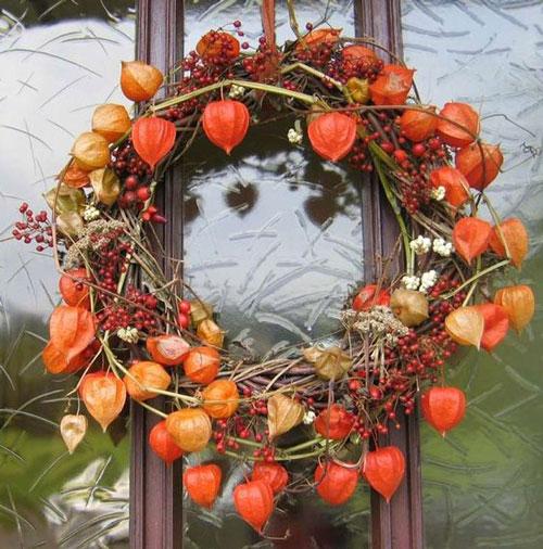 Поделки на тему осень: венки 5