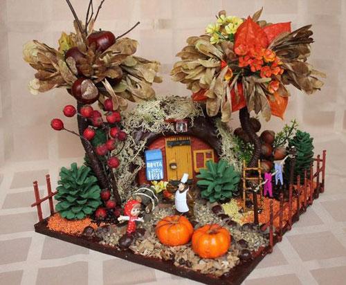 поделка домик на тему осень 2