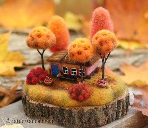 идеи поделок на тему осень для взрослых и детей 7