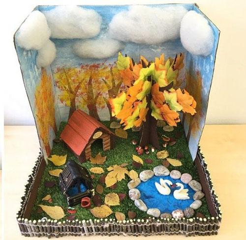 поделка домик на тему осень 4