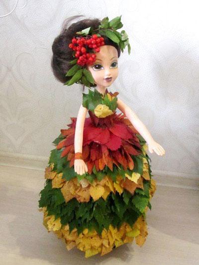 Кукла на тему осень 2