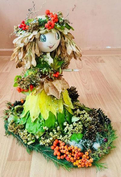 Кукла на тему осень 3