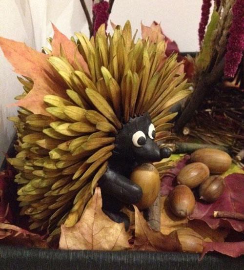 Осенние поделки ежики в детский сад 3