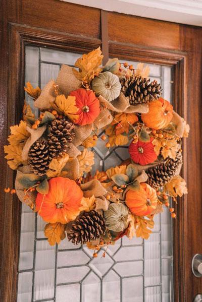 Поделки на тему осень: венки 9