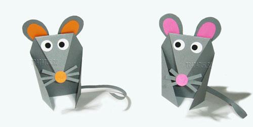 простая поделка мышка для детей