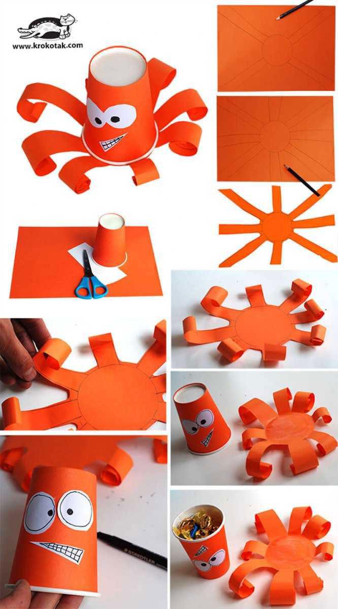 Простые поделки своими руками для ребенка из стаканчиков