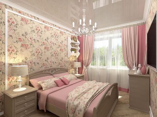 спальня в стиле прованс в загородном доме 4