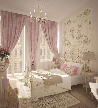 спальня в стиле прованс в загородном доме 2