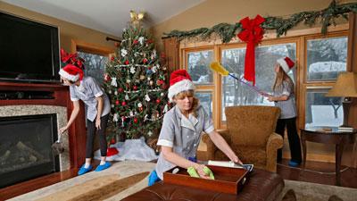 создаем новогоднее настроение с помощью уборки в квартире