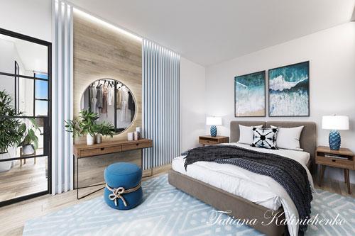 спальня в доме в скандинавском стиле 6