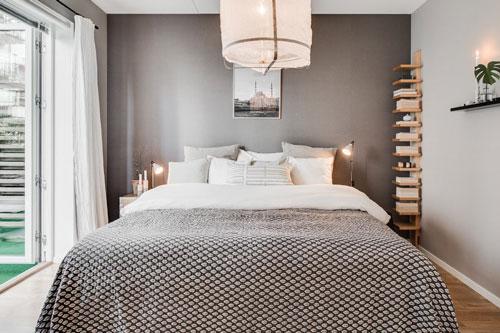 стены в спальне в скандинавском стиле
