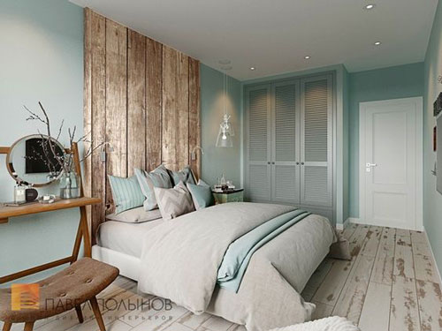 спальня в доме в скандинавском стиле 10