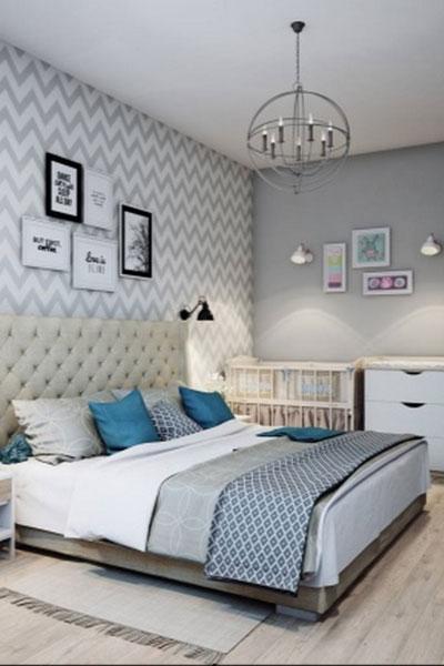 спальня в доме в скандинавском стиле 7