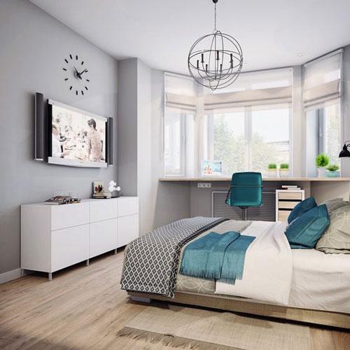 спальня в доме в скандинавском стиле 5