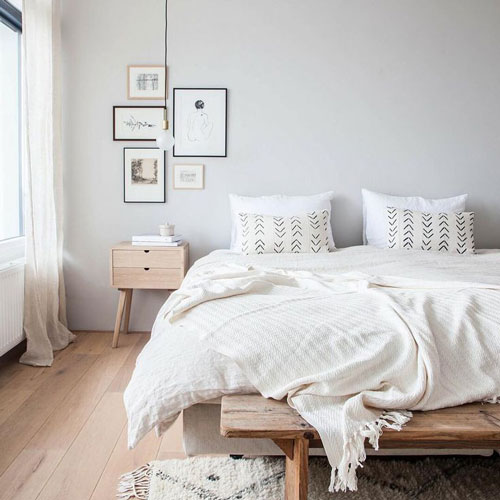 фото интерьера спальни в скандинавском стиле 4