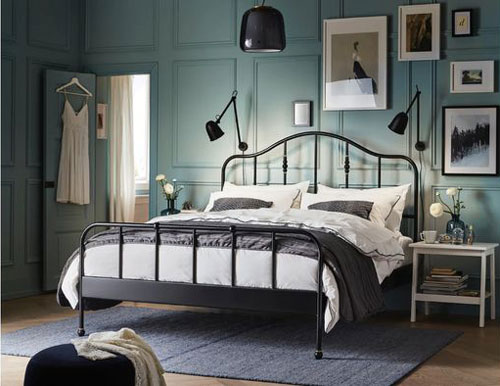 спальня в доме в скандинавском стиле 3
