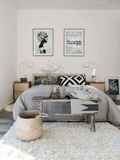фото интерьера спальни в скандинавском стиле 8