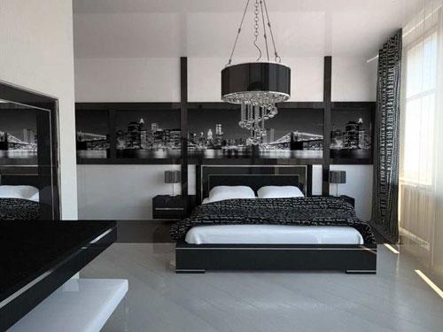 спальни в стиле модерн в светлых тонах 19